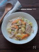 時短!白菜と豚肉の豆乳煮