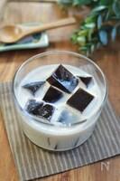 コーヒー寒天とココナッツミルクのデザート