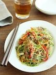 野菜たっぷり!豆苗のチャプチェ風炒め