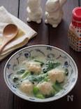 鶏だんごと小松菜の豆乳煮