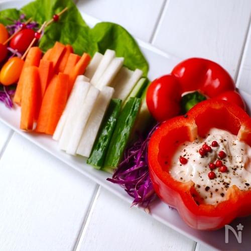 野菜スティック〜味噌ヨーグルトディップ