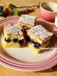 イタリア発!美しい3層が魅力♡ブルーベリーのマジックケーキ