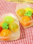 フルーツみたいなトマトに感激!!プチトマトの蜂蜜レモンゼリー