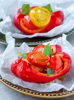 野菜が甘い〜!パプリカとミニトマトのアヒージョ風