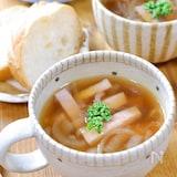 洋の日に!玉ねぎの甘み♡『玉ねぎとベーコンのスープ』