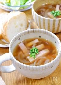 『洋の日に!玉ねぎの甘み♡『玉ねぎとベーコンのスープ』』