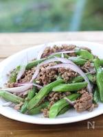 タイ風いんげんと豚ひき肉の炒め物