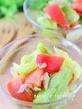止まらない美味しさ*トマト・レタスとツナのマリネ風サラダ