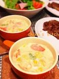 豆腐ホワイトソースで♪白菜と海老のクリーミーミルクシチュー♡