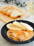 チェコ料理クジェナパプリツェ(鶏肉のパプリカクリーム煮込み)