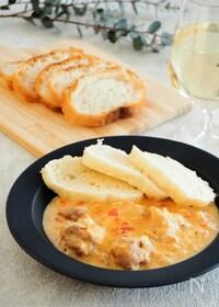 『チェコ料理クジェナパプリツェ(鶏肉のパプリカクリーム煮込み)』