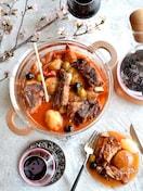 一石二鳥❤旬野菜のホットサラダと豚スペアリブのしっとり煮込み