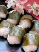 <レンジ&蒸し>道明寺粉で作る桜餅