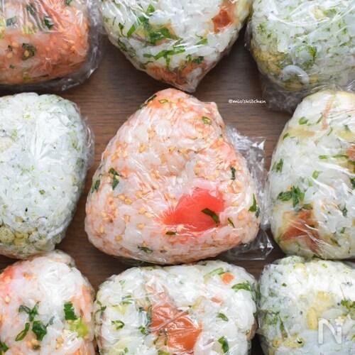 冷凍OK♡作り置きにも♡お米2合分de3種のおにぎり♡