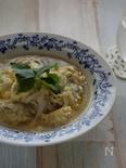 鶏団子の中華風スープ