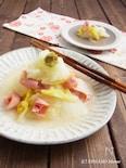 白菜とベーコンの柚子こしょう蒸し