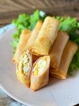 お弁当に是非♡ハムと卵のクリームチーズめんたい春巻