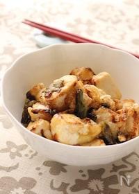 『さっぱりなのにご飯にも合う!豆腐とインゲンのポン酢炒め』