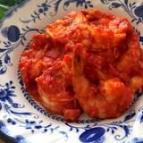 中途半端なトマト缶消費♡トマト缶deうまうま海老チリ