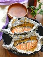 塩鮭とえのきのめんマヨホイル焼き