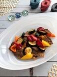 ゆずこしょうでピリッと!カラフル夏野菜と豚バラ肉の味ぽん炒め