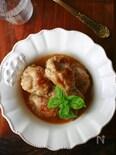 トリュフソースで鶏手羽の照り煮