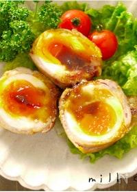 『卵の豚バラ巻き☆お弁当にも』
