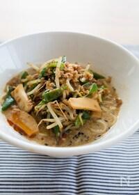 『『黒ごま豆乳担々麺』#野菜たっぷり#ピリ辛』