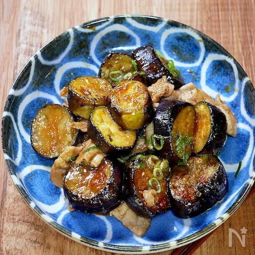 茄子と豚肉の甘味噌炒め