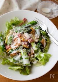 『春サラダ♪『アスパラとポテトとベーコンのシーザーサラダ』』