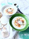 鶏ささみとえびの冷製ごちそうスープ