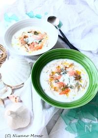 『鶏ささみとえびの冷製ごちそうスープ』