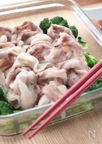 『レンジで作る豚しゃぶサラダ』