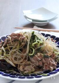 『ご飯のお供。豚肉と春雨の中華風いため。』
