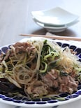 ご飯のお供。豚肉と春雨の中華風いため。