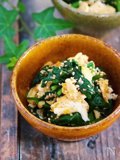 ほうれん草と卵の炒めナムル