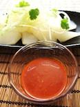 香菜香る白炊き乱切り大根とコチュ味噌タレ