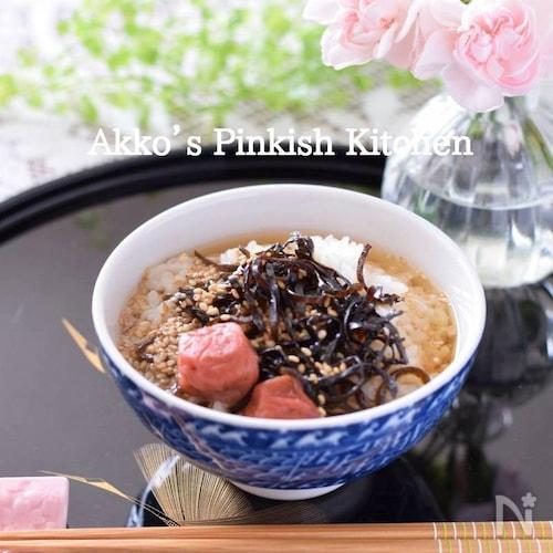塩こんぶ梅干し茶漬け(1分動画付き)