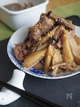 牛肉100gで*牛肉とごぼうの甘辛煮【調味料全部大さじ2】