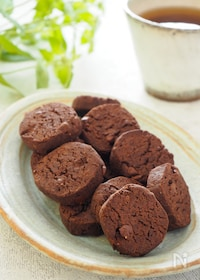 『【糖質オフ、バター、小麦粉不使用】チョコチップクッキー』