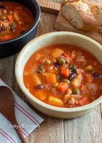 『母のミネストローネ。具沢山のおかずスープ!野菜たっぷり♪』