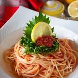 【出汁と昆布でうま味抜群】明太子スパゲッティ