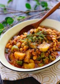 『*大豆と夏野菜のチリコンカン風*』