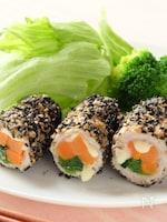 〈くらし薬膳〉黒ゴマ豚肉の野菜巻き