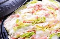 鍋より手軽!『白菜と豚しゃぶのみぞれ蒸し鍋プレート』