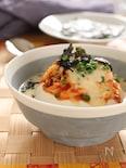 レンジで作れる!キムチーズの豆腐豆乳スープ。