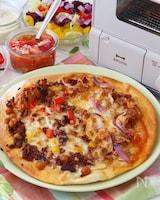 トースターで!メキシカンピザ!本格ピザ生地の詳しいレシピ付き