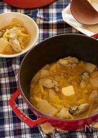 『白菜と牡蠣の味噌バター煮』