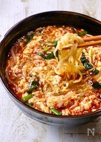 『簡単旨すぎ♡我が家流『辛麺』〆が最強に美味しい!!』