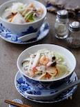 フライパン1つ☆牛乳消費!栄養満点ちゃんぽん麺